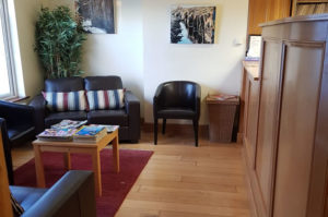 Reception area at Lucan Dental Clinic